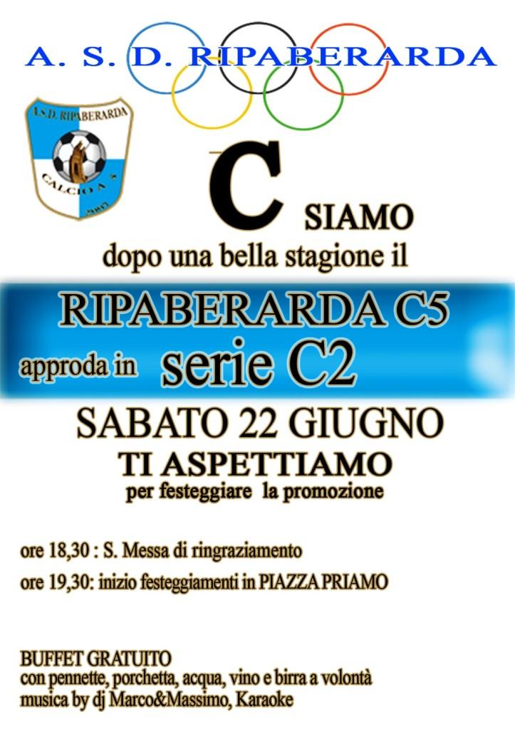 locandina festa promozione calcio a5 in serie c2