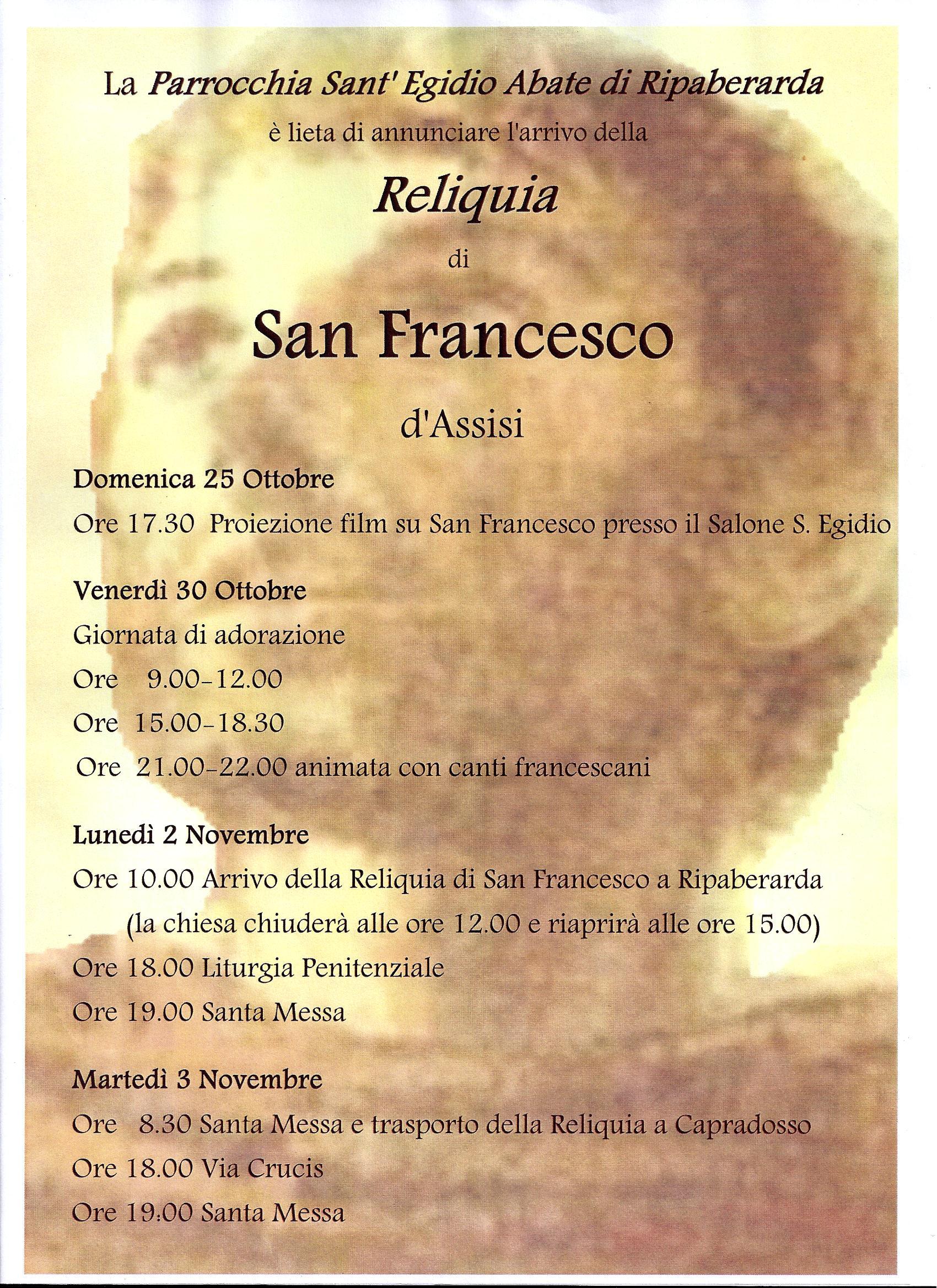 Reliquia San Francesco