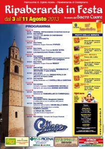 Programma Ripaberarda in Festa 2013