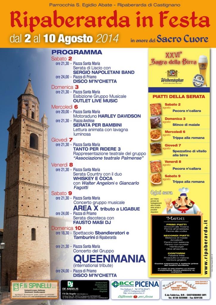 Programma Ripaberarda in Festa 2014