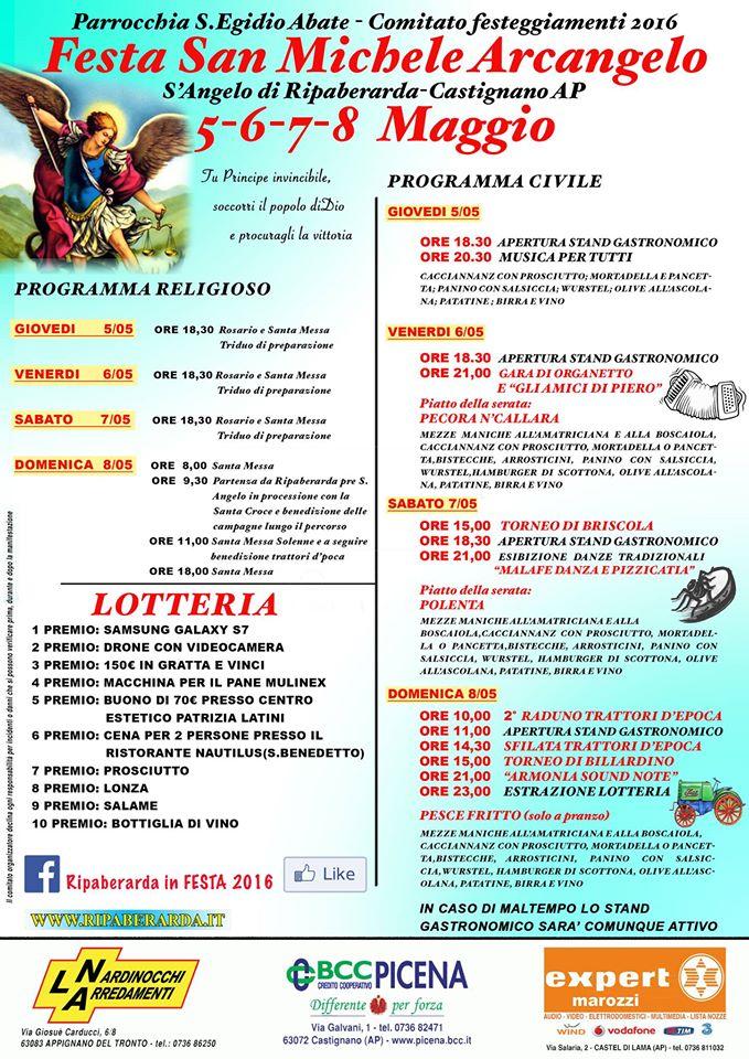 locandina festa sant'angelo 2016 Ripaberarda