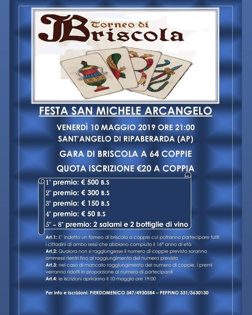 Ripaberarda Festa di San Michele Arcangelo 2019 - Gara di briscola