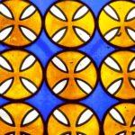 Particolare delle vetrate cripta chiesa Santa Maria Ripaberarda