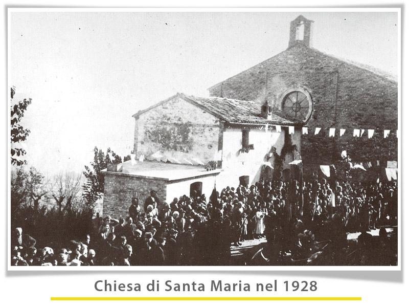 foto della chiesa di S.Maria nel 1928